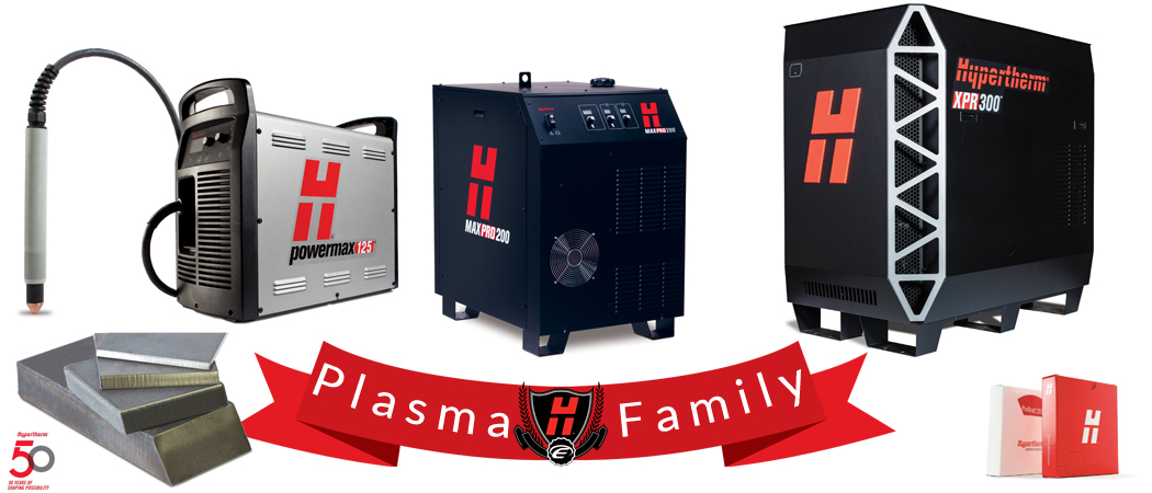 Hypertherm family of plasma cutting machinery